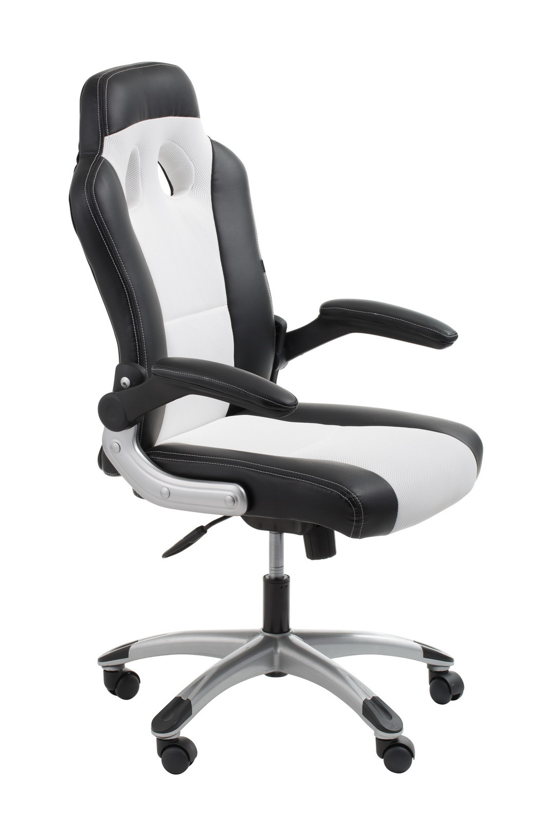 racer black white racing style chair office stock