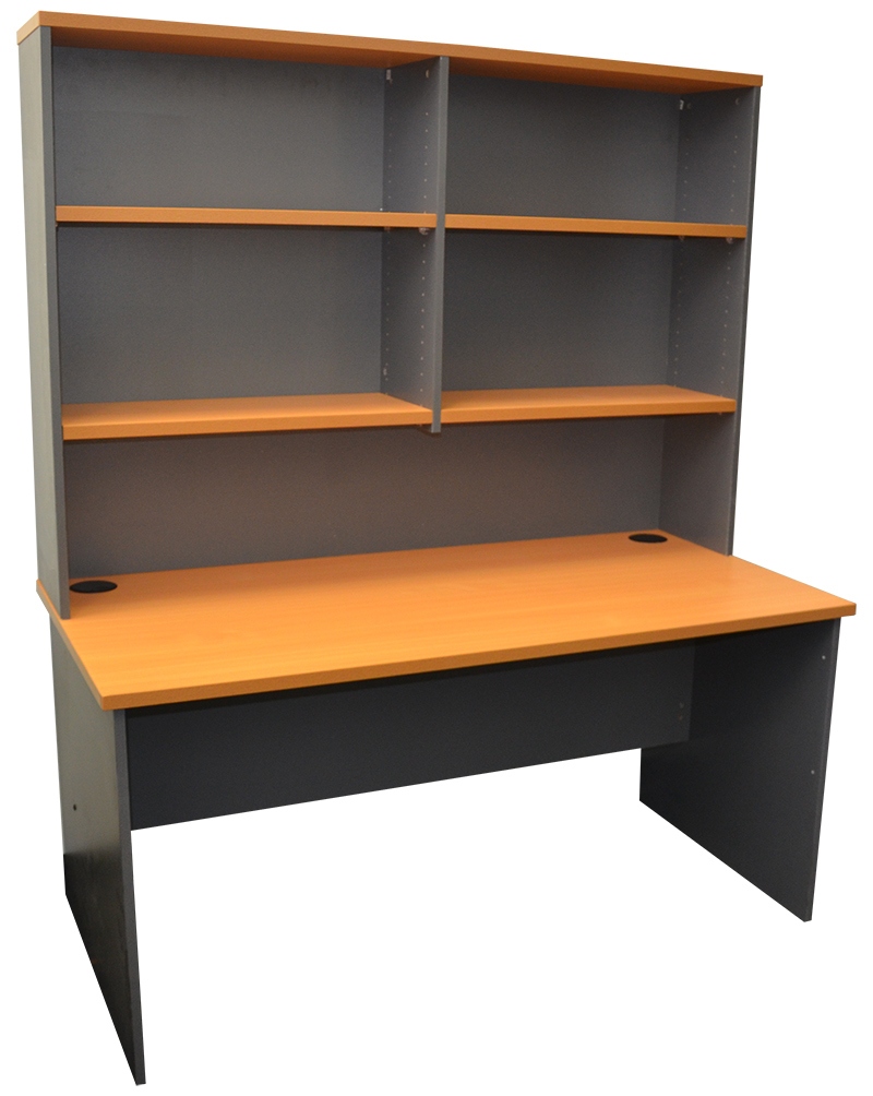 express straight desk with hutch office stock