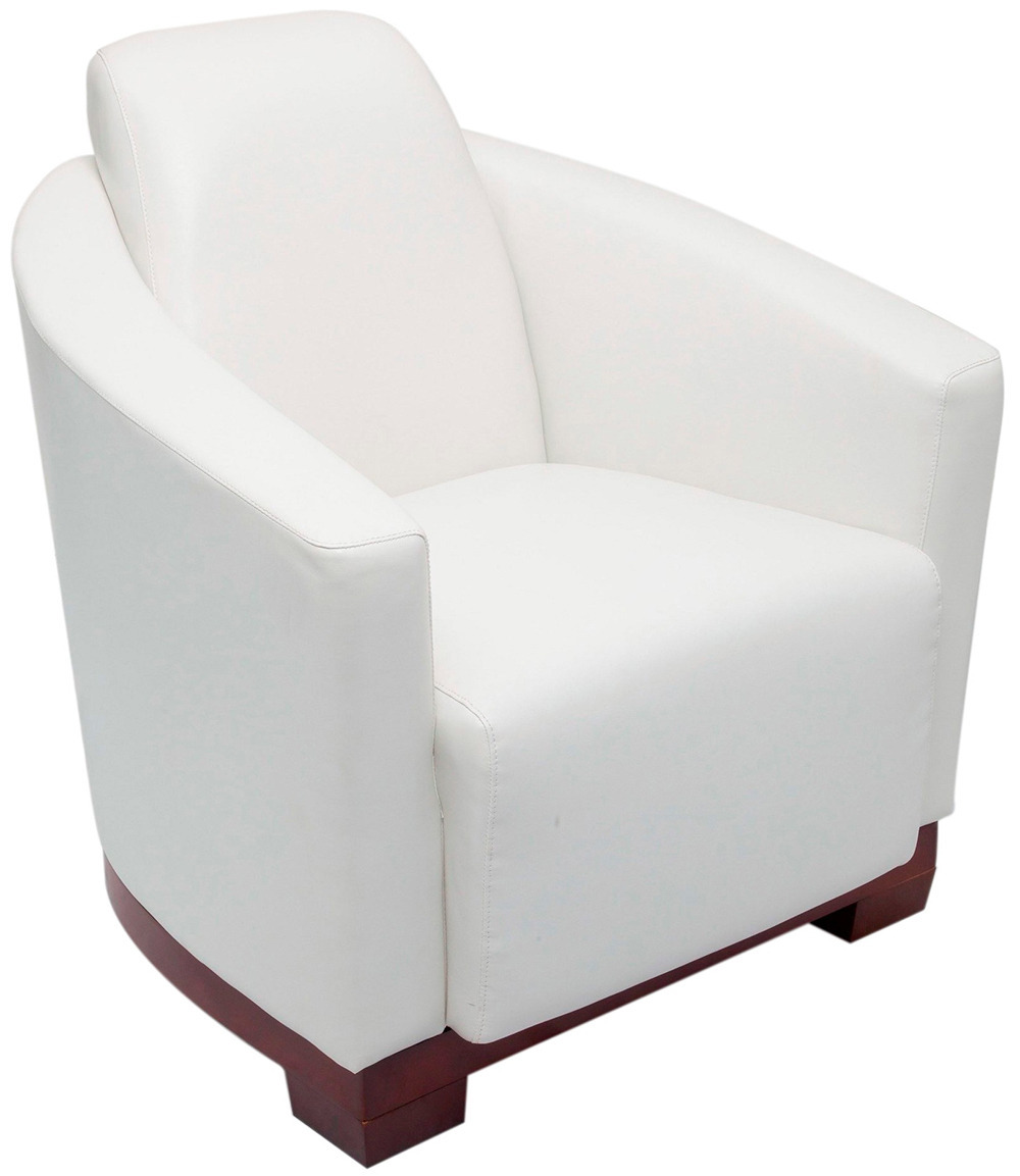 Pluto White Single Seat Lounge Chair Office Stock