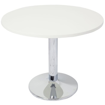 Chrome Base Round Meeting Table