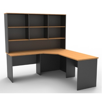 Express Corner Workstation Desk with Hutch