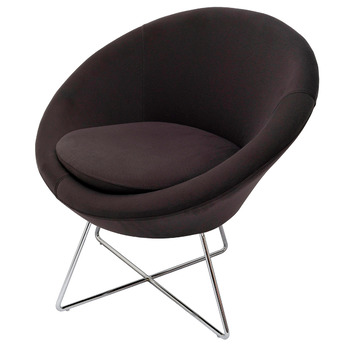 Splash Cone Charcoal Lounge Visitor Reception Chair