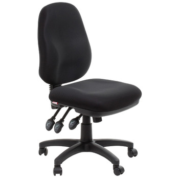 Adelaide Black Ergonomic Commercial Fabric Office Chair