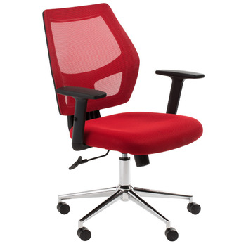 Metro Red Mesh Back Computer Chair