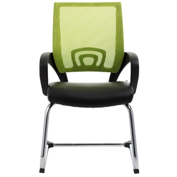 View Green Mesh Visitor Waiting Room Chair