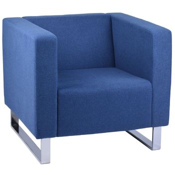 Enterprise Blue Single Reception Lounge Chair
