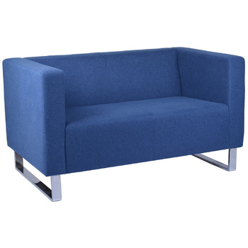 Enterprise Blue 2 Seater Reception Lounge Chair