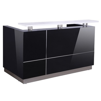 Hugo Black Reception Desk Counter