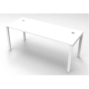 Rapid Infinity White Straight Home Office Desk