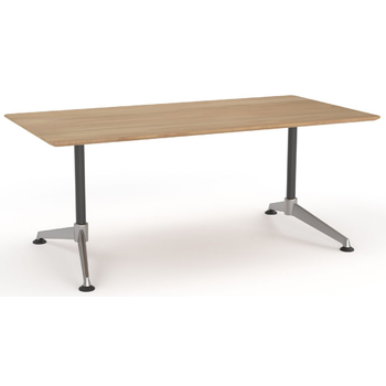 Modulus Beech Boardroom Meeting Table - Single Post