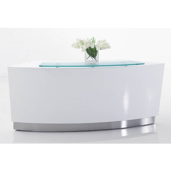 Evo White Reception Desk Counter