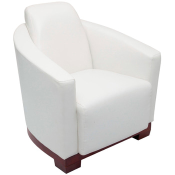Pluto White Single Seat Lounge Chair