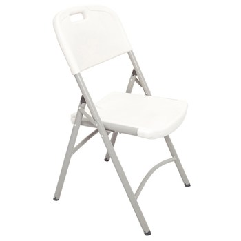 PT White Poly Folding Chair