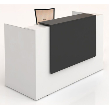 Sorrento White Reception Desk Counter