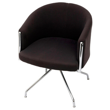 Splash Club Charcoal Lounge Visitor Reception Chair