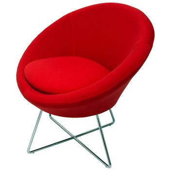 Splash Cone Red Lounge Visitor Reception Chair