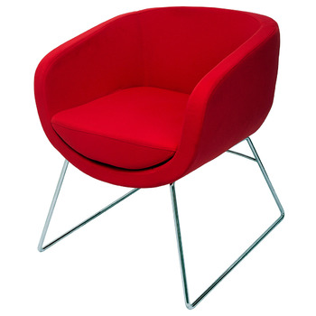 Splash Cube Red Lounge Visitor Reception Chair