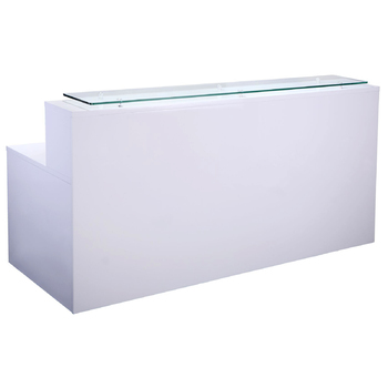 Vibe Straight White Reception Desk Counter