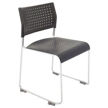 Wimbledon Stackable Chrome Sled Base Chair