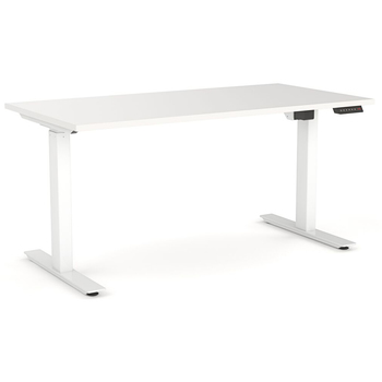Agile Electric Height Adjustable Standing Desk - White Frame