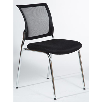 Mackay Black Mesh Back 4 Leg Visitor Chair