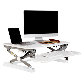 Rapid Riser White Height Adjustable Sit Stand Desk