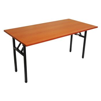 Rapid Steel Frame Folding Table Cherry