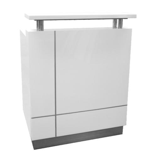 Receptionist Small White Reception Desk Counter Office Stock