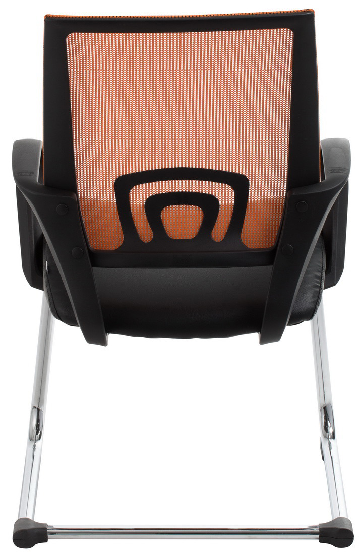 View Orange Mesh Visitor Waiting Room Chair Office Stock