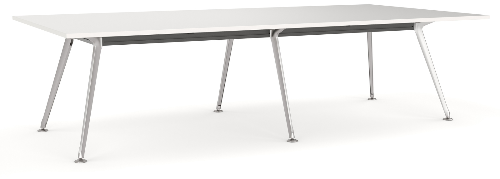 Team White Executive Boardroom Table Office Stock
