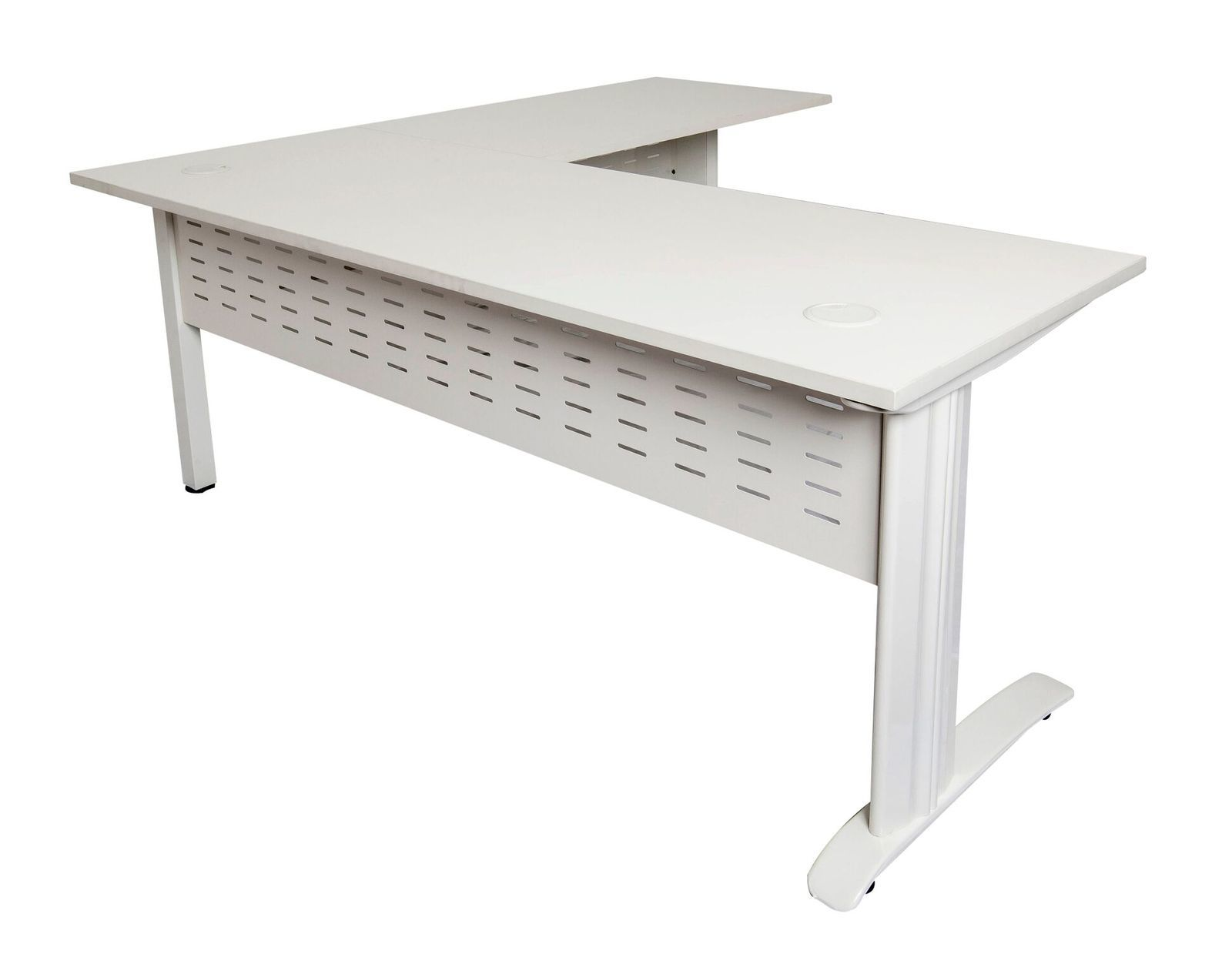White Desk Intended Rapid Span White Desk With Return Frame