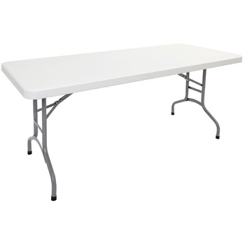Poly White Folding Table