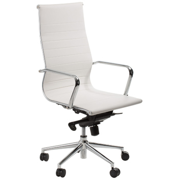 Astoria White High Back Boardroom Chair