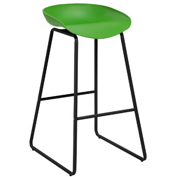 Aries Green Metal Bar Stool