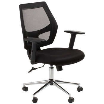 Metro Black Mesh Back Computer Chair