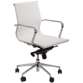 Astoria White Low Back Boardroom Chair
