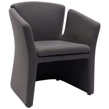 Clover Charcoal Fabric Office Tub Chair