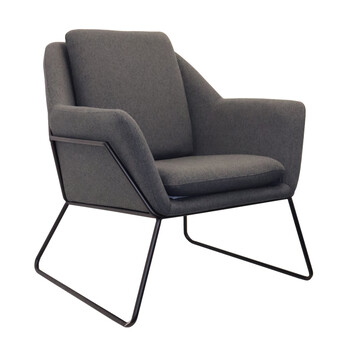 Cardinal Charcoal Grey Fabric Arm Chair