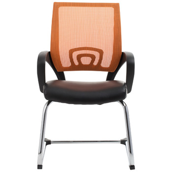 View Orange Mesh Visitor Waiting Room Chair