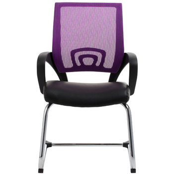 View Purple Mesh Visitor Waiting Room Chair