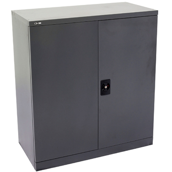 Go Steel Grey 1000mm High Stationary Cupboard