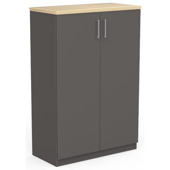 EkoSystem Office Storage Cupboard 1200mm High Charcoal