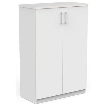 EkoSystem Office Storage Cupboard 1200mm High White