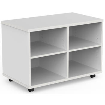 EkoSystem Mobile Bookcase Caddy White