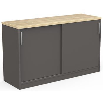 EkoSystem Charcoal Office Storage Credenza - 1200mm Wide
