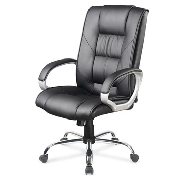Pro Executive PU Leather Office Computer Chair Black