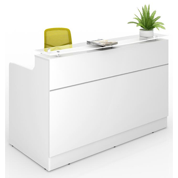Classic White Reception Desk Counter