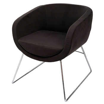 Splash Cube Charcoal Lounge Visitor Reception Chair
