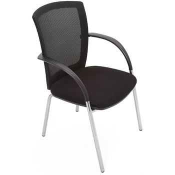 Function 4 Leg Mesh Back Visitor Chair