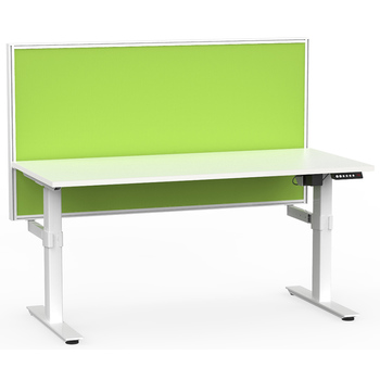 Agile White Electric Height Adjustable Desk with Screen